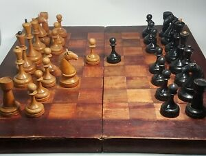 Rare Tournament vintage chess set. Weighted chess pieces. Made in USSR in 1934 .
