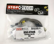 Stoptech REAR Stainless Steel Braided Brake Lines for Subaru WRX STi 08+ New