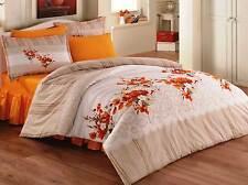 Bettwäsche 200x200 cm Bettgarnitur Bettbezug Baumwolle Kissen 5 tlg BEGON GELB