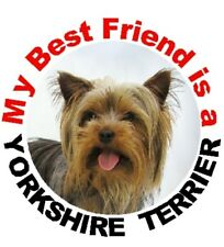 2 Yorkshire Terrier Car Stickers Designed by Starprint