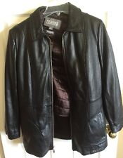 Wilsons Leather Black Jacket Coat Medium With Thinsulate Insulation Liner