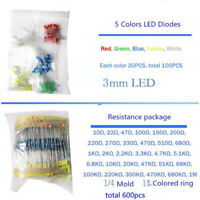Lot 1390Pcs Electronic Accessories LED Diode Transistor Capacitor Resistance Set