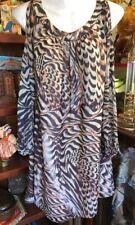 Designer forever 21 Animal print Sexy Event Open blouse sleeve Short Dress 10