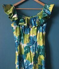 Vintage Hawaiian Stan Hicks Bombshell Dress 1960's Floral Size M