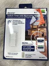 Leviton 15 Amp 120-Volt Decora Digital Switch Timer w. Bluetooth Techn Dds15