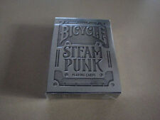 Theory11 STEAM PUNK SILVER Metallic deck Bicycle Playing Cards - steampunk Poker