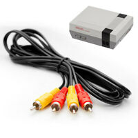 Nintendo NES TV AV Cable Lead Composite Video Audio RCA