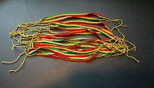 Lot of 20 cotton Rasta Handmade friendship bracelets.