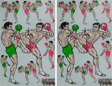 Muay Thai sticker autocollant 2 Sheets size : 26.5 X 17 cm. ( Stickers Pvc )