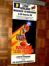 Affiche   BASKET HARLEM GLOBE TROTTERS  à Lyon  sport an 80 / 90 Poster