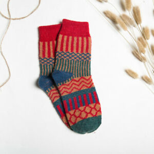 5 Pairs Winter Socks Cozy Sleep Floor Mid-tube Crew Fluffy Thick Warm Soft Socks