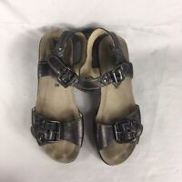 Mephisto Sandals EU 38 US 7 Women Brown Buckle Leather Ergonomic Portugal