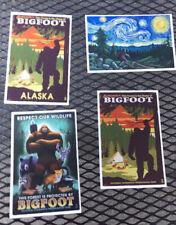 New! Set of 4 Bigfoot Theme postcards unused Made in USA Lantern Press Postcards