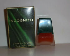 Incognito Cologne Splash 0.5oz 15mL Cover Girl by Noxell Corp Vintage Item
