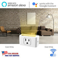 Wifi Smart Plug Outlet Power Socket LED Light Alexa Google Home Remote Control