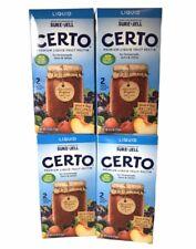 Sure Jell Certo Premium Liquid Fruit Pectin - 6 fl oz (Lot of 4 Boxes)