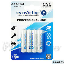 4 x everActive AAA Rechargeable batteries Professional line min 1000mAh Ni-MH
