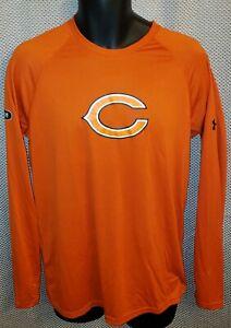 Chicago Bears Orange Under Armour Combine Authentic LS Workout T-Shirt - Mens S