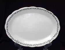 Buffalo China Vintage Platter White With Black Scrolls