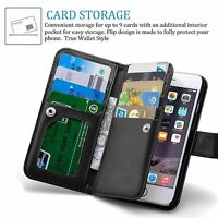 For Apple iPhone 8 Case, iPhone 7 Wallet Case, 9 Card Slot PU Leather Magnetic