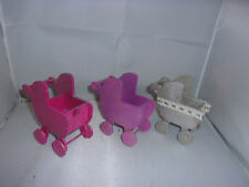 3 x Nostalgie-Puppenwagen-Kaufladen-Puppenhaus-Puppenstube-für Bastler
