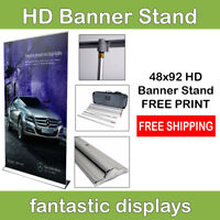 """48"""" Retractable Banner Stand Pro HD with Print - Roll Up Trade Show Display"""