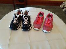 2 Pair Women's Skechers D lites 8.5 & GoWalk 3 Size 8 Shoes
