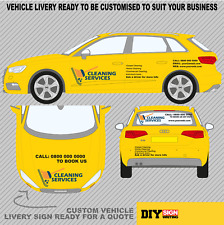 Cleaning Services Vehicle Sign Writing Livery Customised KIT To Your Business