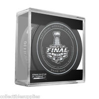 New 2015 NHL Stanley Cup Blackhawks Lightning Sherwood Official Game Puck #1 One