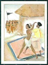 Militari Coloniali Africa Orientale Risque Nude Ethnic FG cartolina XF3075