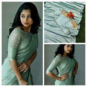 net saree dola silk zari work Designer formal ethnic wedding party indian sari