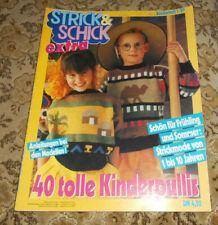 Strick & Schick von 1989 Kinder  Bilderpullis und andere Stricken Strickheft