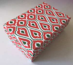 DECORATIVE COLORFUL GIFT/STORAGE BOX, Recycled paper - SM Red/Green