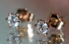 Brilliant Cut Solitary Created Diamond 5mm 18K Rose Gold GF Studs