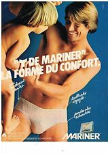 PUBLICITE ADVERTISING 054 1980  MARINER slip Y sous vetements homme