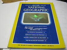 NATIONAL GEOGRAPHIC March 1984 THE LASER Holography CHINA Calgary Canada RHINO