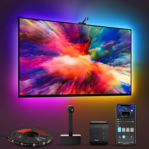 Govee Immersion WiFi TV LED Backlights with Camera, RGBIC Ambient TV Lighting
