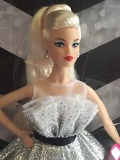 60TH ANNIVERSARY BLONDE BARBIE DOLL SILVER AND WHITE GOWN IN STOCK