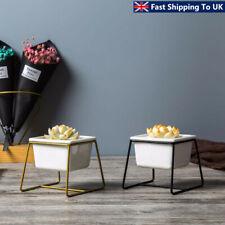 Iron Display Rack w/ Ceramic Vase Landscape Shelf Flower Plant Pot Stand  Y