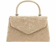 Clasp Floral Handbags with Inner Dividers Clutch Bags