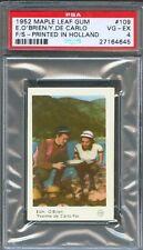 1952 Maple Leaf Gum Card 109 YVONNE DE CARLO Edmond O'BRIEN Silver City PSA 4