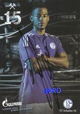 Dennis AOGO + FC Schalke 04 + Saison 2014/2015 + Original Autogrammkarte