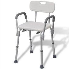 Vidaxl Sedia da doccia con schienale anziani disabili in alluminio bianca