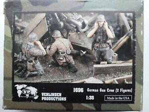 Verlinden 1696 German Gun Crew (3 Figures) 1/35 scale resin model kit