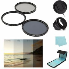 7Pcs 67mm UV CPL Polarizing ND 4 Lens Filter Hood+Cap+Pouch For Canon Nikon Sony