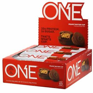 One Brands, ONE Bar, Peanut Butter Cup, 12 Bars, 2.12 oz (60 g) Each