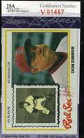 Don Zimmer 1978 Topps Jsa Cert Autograph Authentic Hand Signed