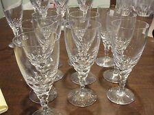 "ORREFORS CARINA 10 WINE GLASSES 6 1/8"" BY 2 3/8"""
