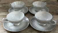 IMPERIAL CHINA WHITNEY CUP AND SAUCER SETS W.DALTON SET OF 4