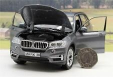 PERSONALISED PLATE GIFT Diecast Grey BMW X5 1/24 Model Boy Dad Present Boxed New